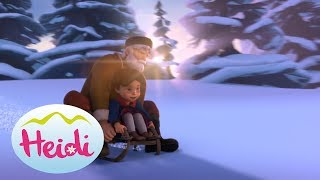 🌼🌷🗻 With the sled to school - Heidi   🌼🌷🗻