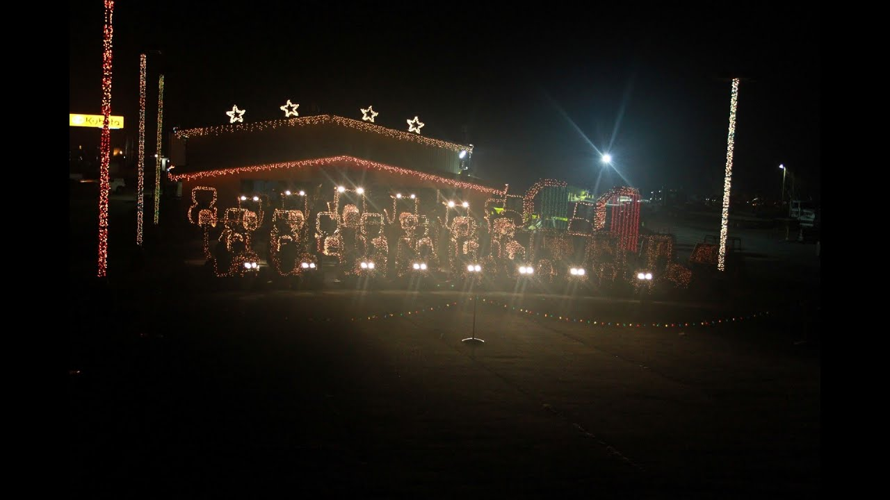 Tractor Christmas Orchestra 2013 Christmas Light Display - YouTube