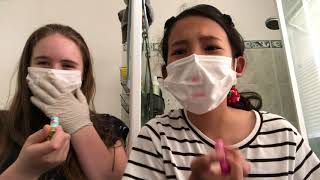 What you cant do wearing a face mask and gloves