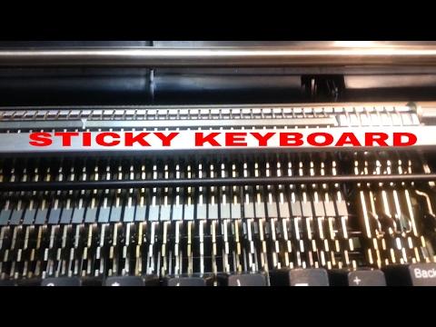 IBM Selectric Typewriter Sticky KeyBoard Key Stems Spacebar Repair Restore Fix Flush & Re - Lube