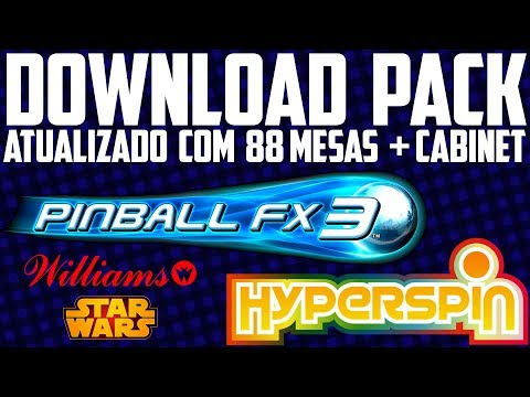 HYPERSPIN / PACK PINBALL FX3 ATUALIZADO / 88 TABLES / CABINET ON