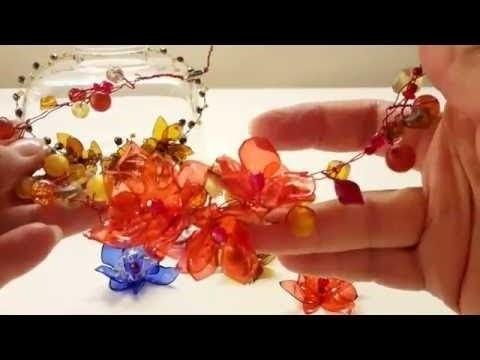 ЦВЕТЫ ИЗ ПЛАСТИКОВЫХ БУТЫЛОК. Мастер-класс, по вашей просьбе .Flowers from plastic bottles..从塑料瓶花
