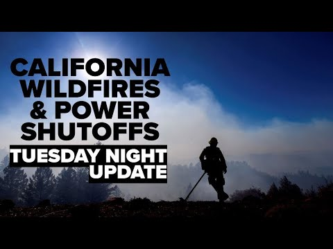 California Wildfires: Tuesday Night Wrap Of Kincade Fire, PG&E Shutoffs And Getty Fire
