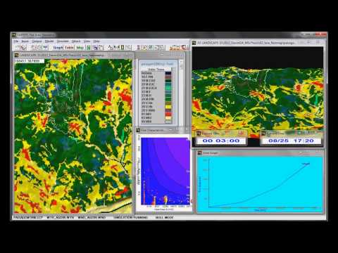 wildfire simulation with FARSITE