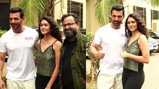 John Abraham & Mrunal Thakur Pramote Their Film Batla House