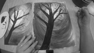 Spooky Tree Painting
