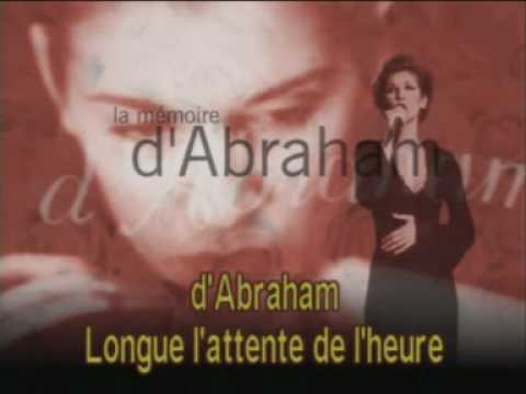 CELINE DION - DVD Karaoke Video - La mémoire d'Abraham