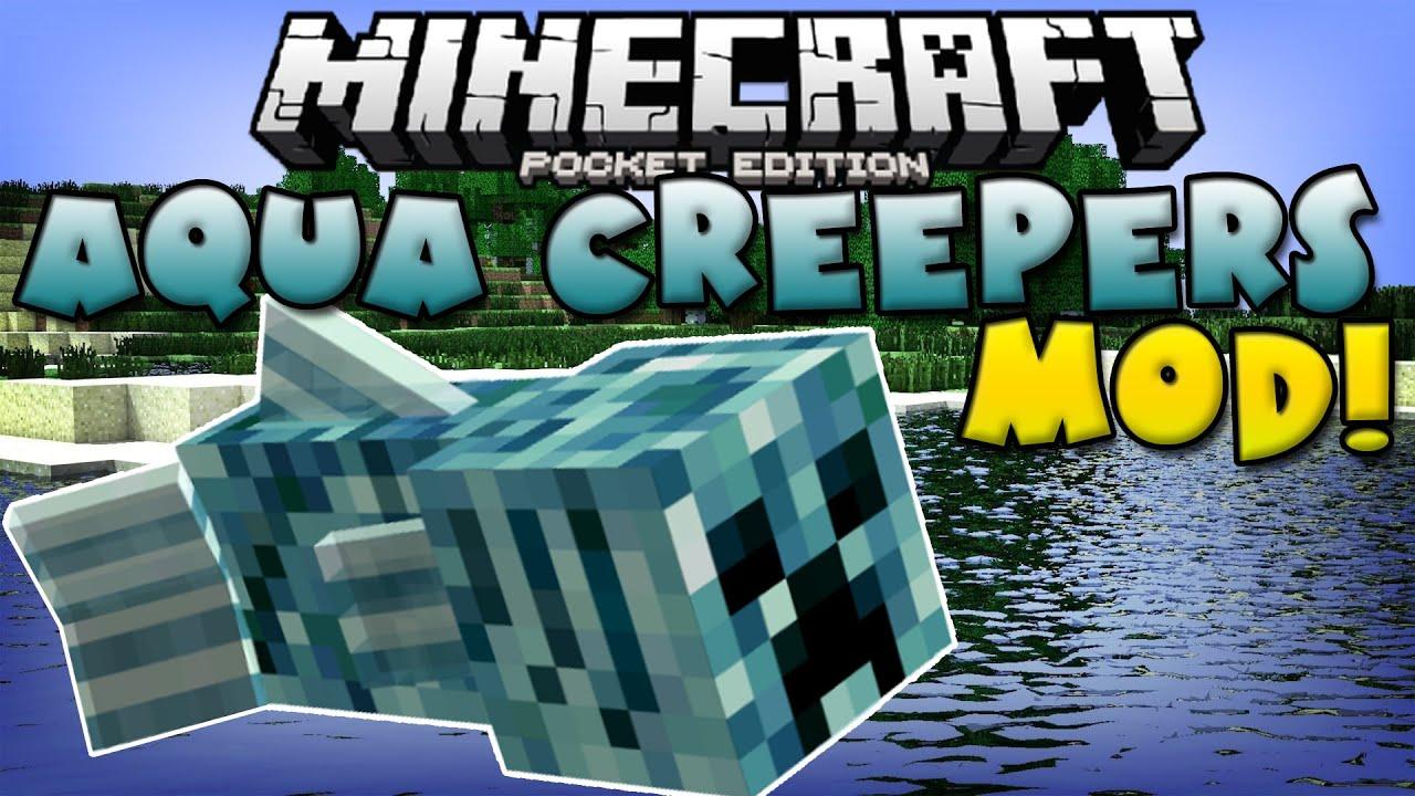 Aqua creeper mod mutant creeper fish minecraft pe for How to fish in minecraft pe