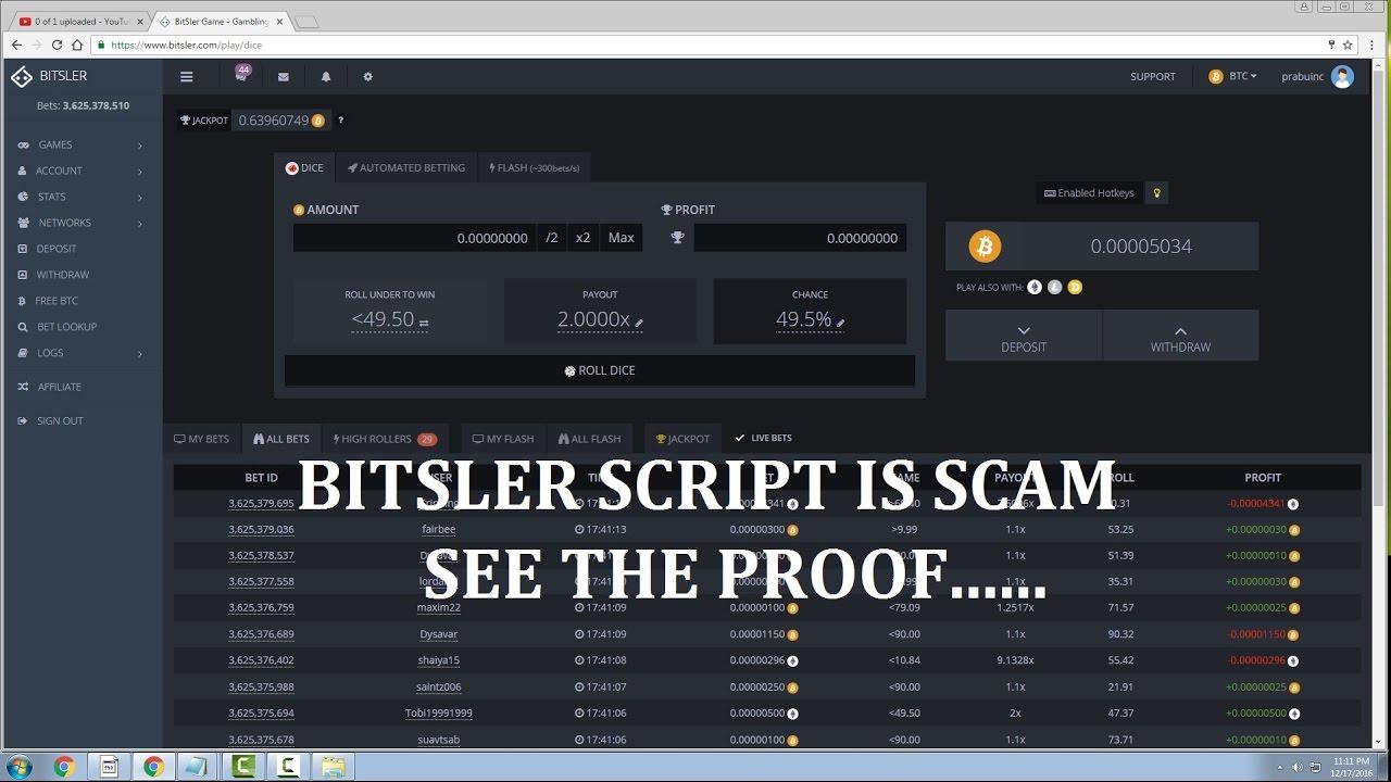 bitsler bitcoin script)