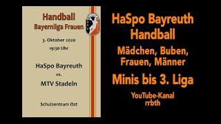 """Also leute, heute (samstag, 3. oktober) gibt es hier auf diesem kanal ab 19:30 uhr (anpfiff) den ersten """"echten"""" live-stream:haspo bayreuth – mtv stadeln (03..."""