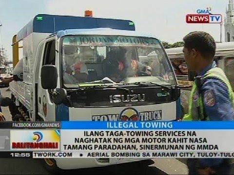 Ilang taga-towing services na naghatak ng mga motor kahit nasa tamang paradahan, sinermunan ng MMDA