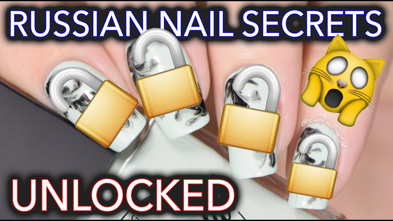 Russian Nail Art Secrets Unlocked No Water Watermarble Youtube