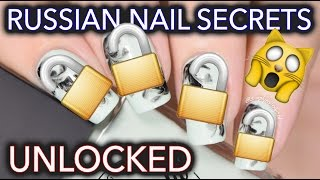 Russian nail art secrets UNLOCKED - No-water watermarble!