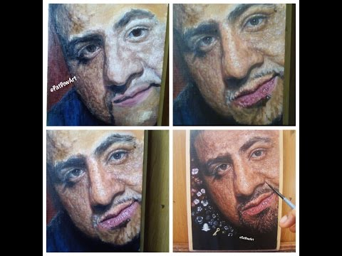 How to: Paint DJ Khaled A Hyperrealism Oil Painting Tutorial MAJOR KEY ?- PatDowArt