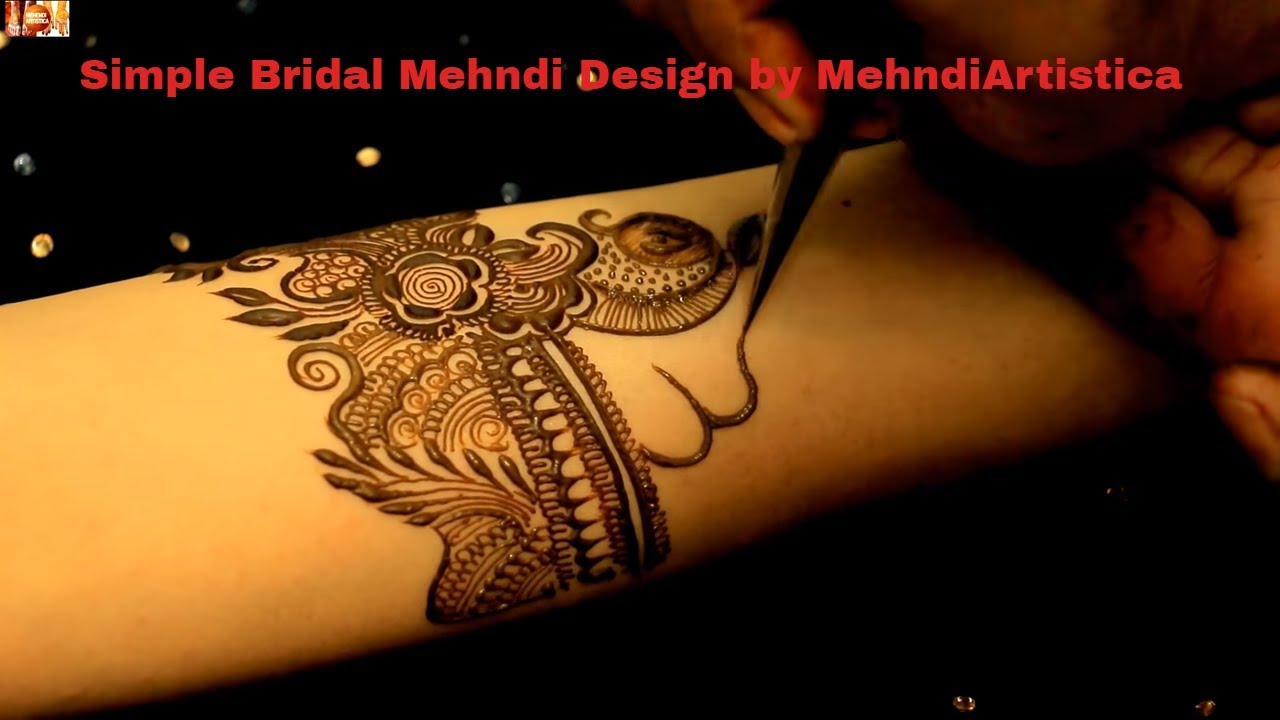 Learn To Draw Basic Bridal Mehendi Designs On Hands Easy Bridal