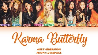 Gambar cover Girls' Generation (少女時代) – Karma Butterfly Lyrics (KAN/ROM/ENG)