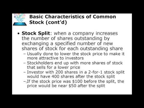 Common Stock Overview Ch 6 Part one