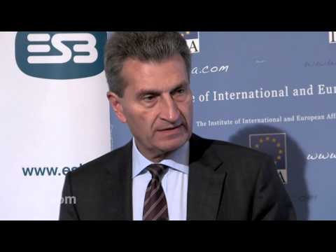 Günther Oettinger on The Challenges Facing European Energy Policy - 20-Sep-2012