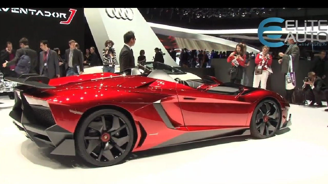 Lamborghini Aventador J Concept Salon Geneve 2012 Youtube