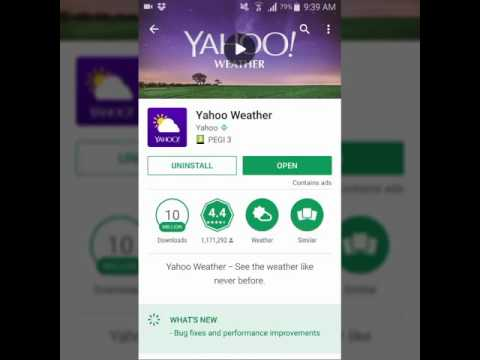 Yahoo Weather For Mobile Phone - Adds Beautiful Forecast