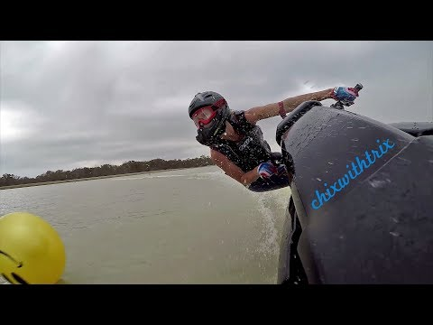 ChixSki: Gyro Cam on a Stand Up Jet Ski - Moto GP Style!
