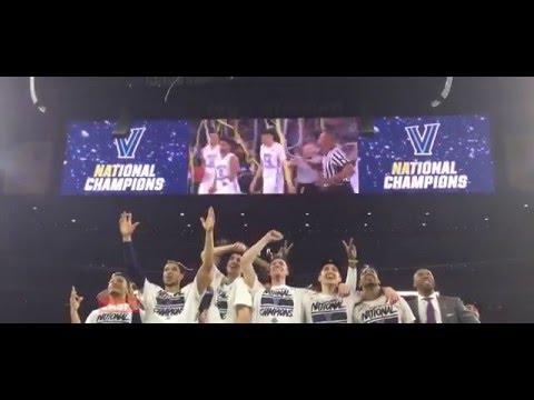Kris Jenkins Buzzer Beater 3 Pointer - Villanova beats North Carolina - Best Fan Reactions