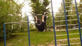 краб на турнике (3 урок Новобытова)