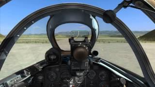DCS: MiG-15bis startup, takeoff and landing (DCS World 1.2.15)