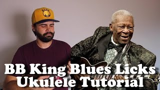 5 BB King Style Blues Licks - Blues Ukulele Tutorial with Tabs