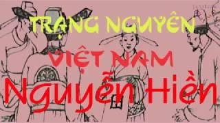 Gambar cover Trạng nguyên Việt Nam, Nguyễn Hiền, truyện hay, thuan mai