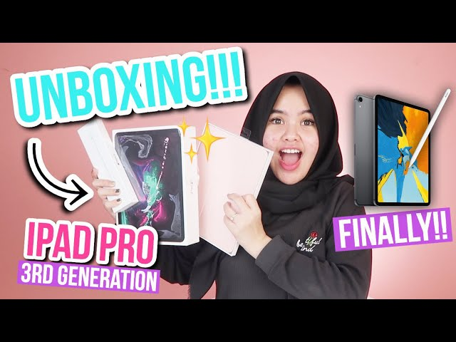 UNBOXING NEW IPAD PRO!!!! FINALLY!! IPAD FOR TAKING NOTES?!