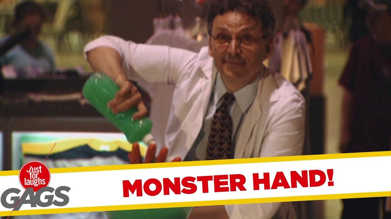 Unexpected Monster Bowl Hand Prank