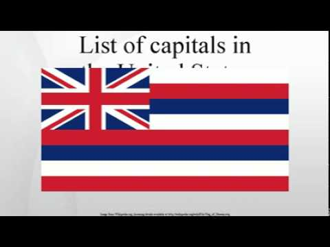 List of capitals in the United States