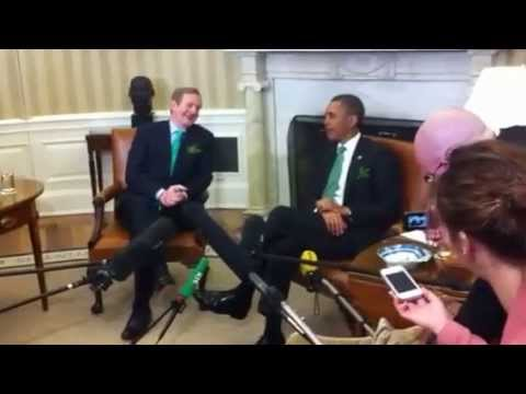 US president Barack Obama and Irish Taoiseach Enda Kenny at