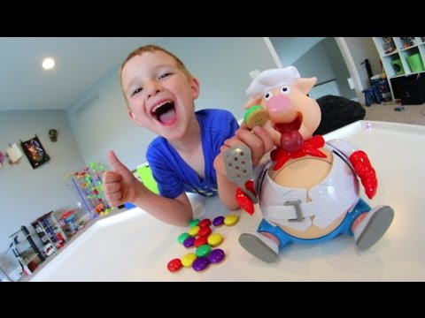 FATHER & SON PLAY POP THE PIG!