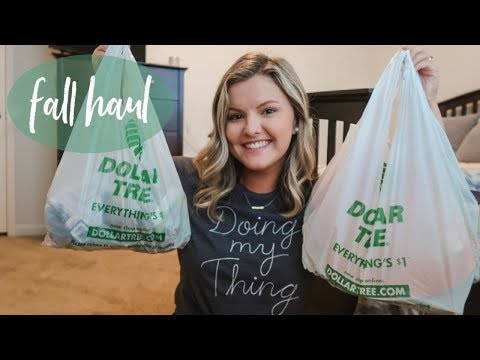 FALL DOLLAR TREE HAUL 2019 | Decor On A Budget
