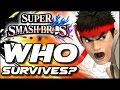 Super Smash Bros WHO CAN SURVIVE Ryu s Shoryuken in Lava Trap   Wii U