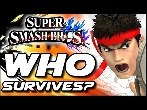 Super Smash Bros WHO CAN SURVIVE Ryu's Shoryuken In Lava Trap? (Wii U)