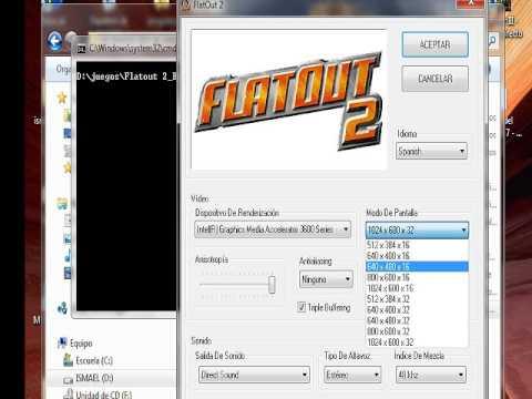 configuracion flatout 2