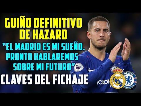"""GUIÑO DEFINITIVO DE HAZARD AL MADRID   """"ES MI SUEÑO. HABLAREMOS PRONTO""""   LAS CLAVES DEL FICHAJE thumbnail"""