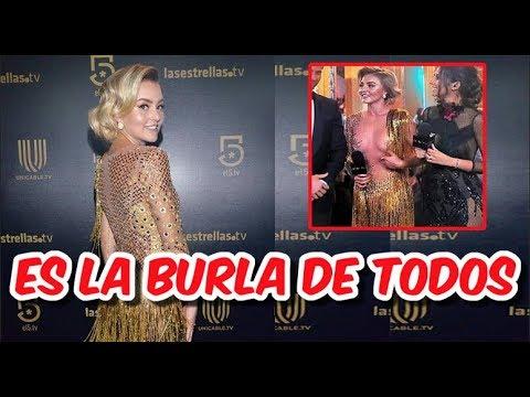 Angelique Boyer Hace El Ridículo Al Llegar Con Vestido Al Revés A Entrega De Premios