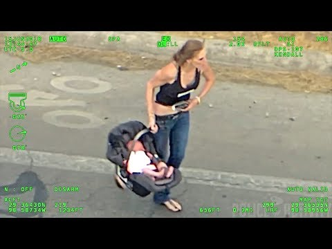 None - Woman With Baby Leads Police on Wild Car Chase!