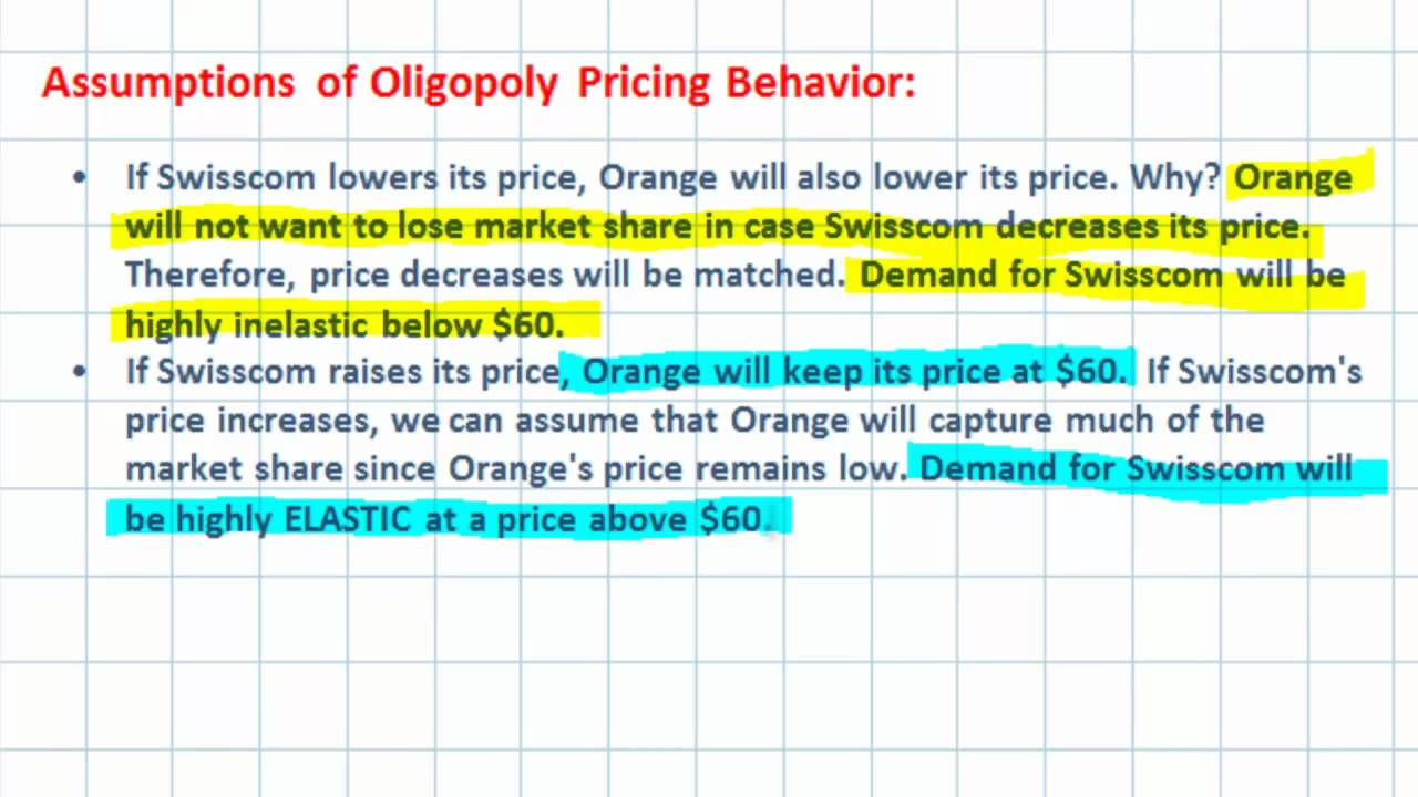 oligopoly cases Cartel theory of oligopoly a cartel is defined as a group of firms that gets together to make output and price decisions.
