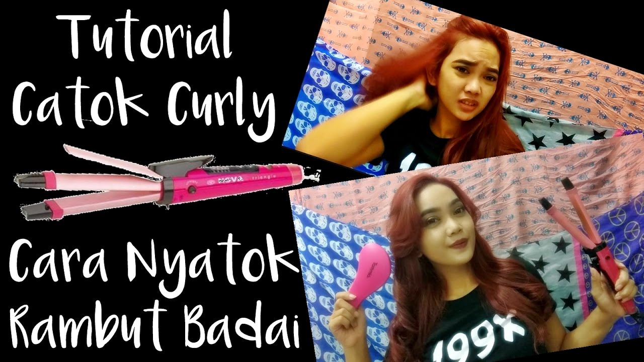 Hair Tutorial  Cara Nyatok Rambut Curly Badai Catok Nova In Judith Cholya
