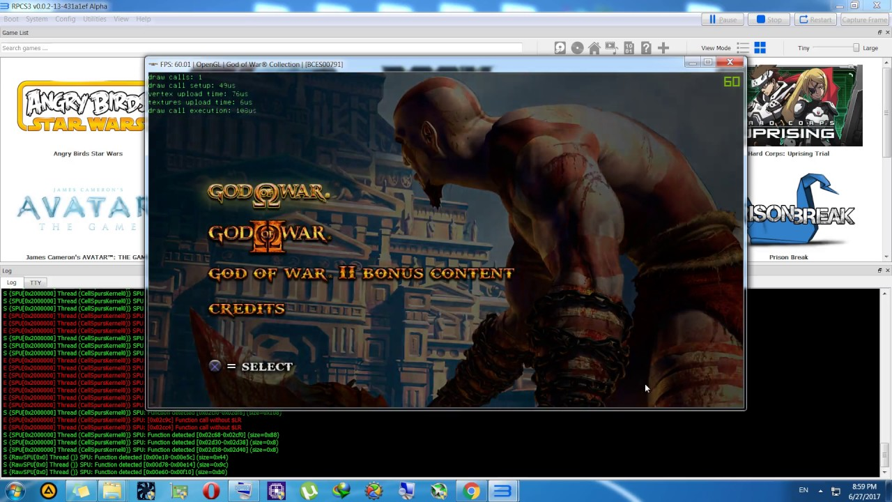 RPCS3 Forums - God of War Collection [BCES00791]