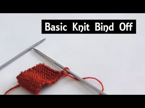 The Basic Knit Bind Off Casting Off Tutorial For Beginners
