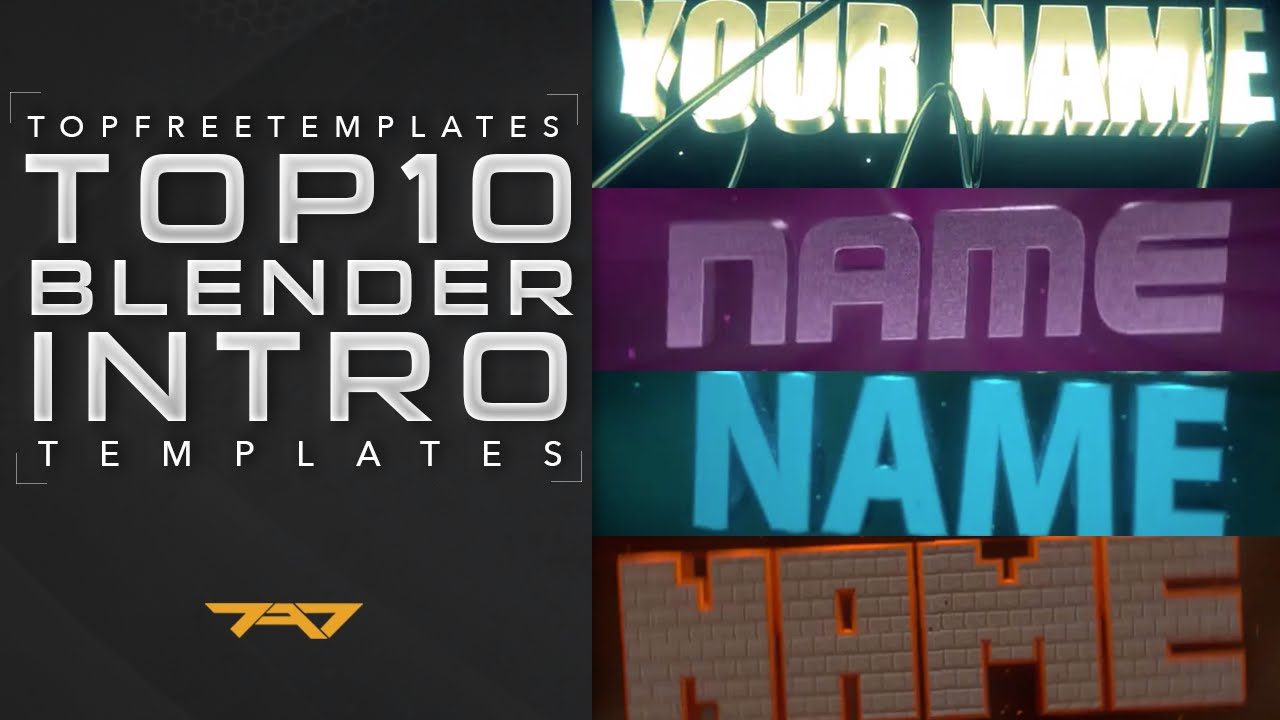 best top 10 blender intro templates 2015 free downloads youtube