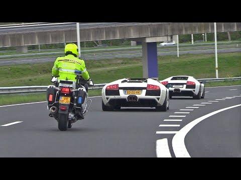 Dutch Cop Hates Lamborghini Murcielago LP640 w/ Straight Pipes Fi Exhaust