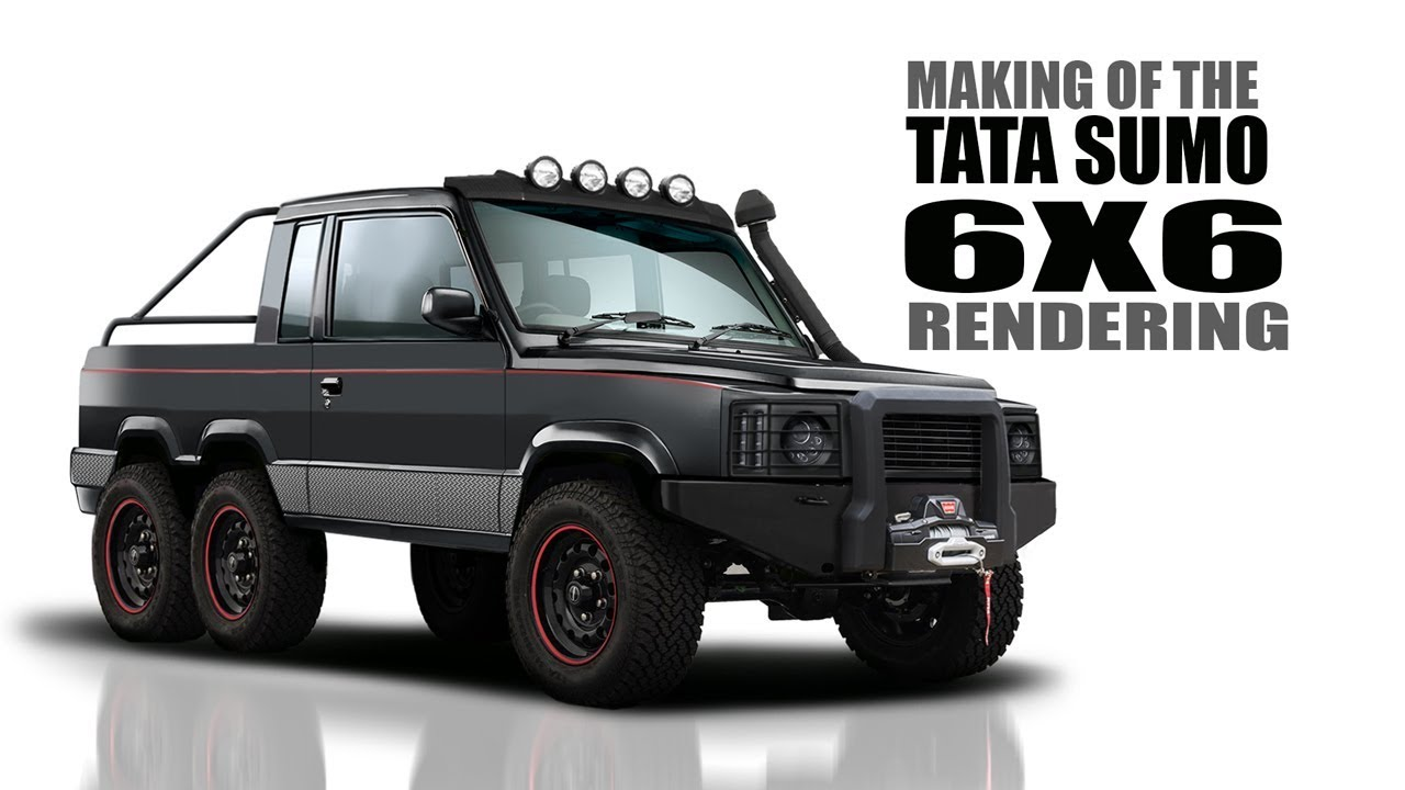Tata Sumo Modified to a 6X6 Monster Truck - Rendering | SRK Designs #1
