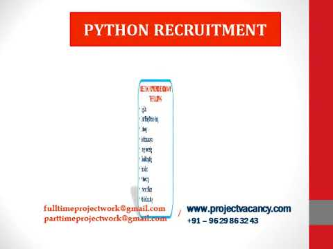 PYTHON Recruitment | Project Vacancy